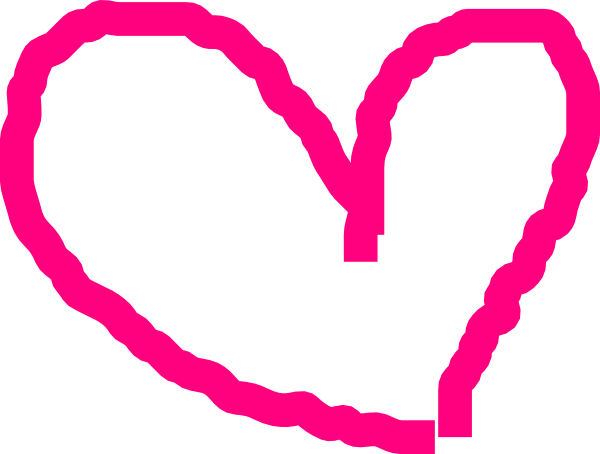 Pink Heart Outline Clip Art at Clker.com.