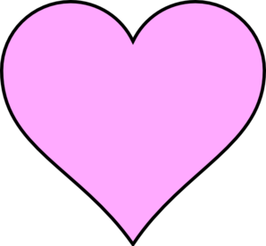 Pink Heart Outline Clipart.