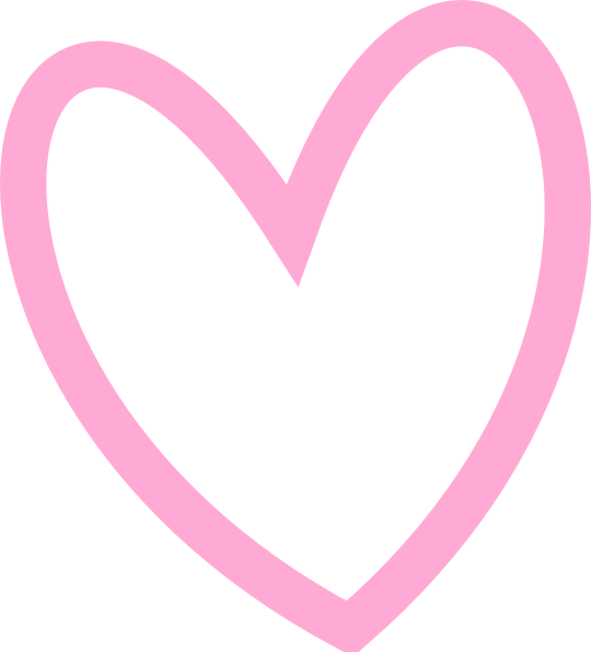 Slant Pink Heart Outline Clip Art at Clker.com.