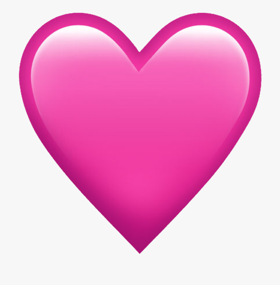 Emoji Pink Iphone Whatsapp Emojis Hearts.