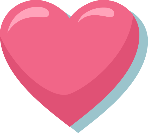 Pink Heart PNG Image.