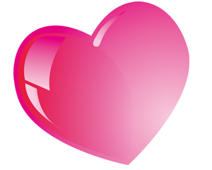 Pink heart png.