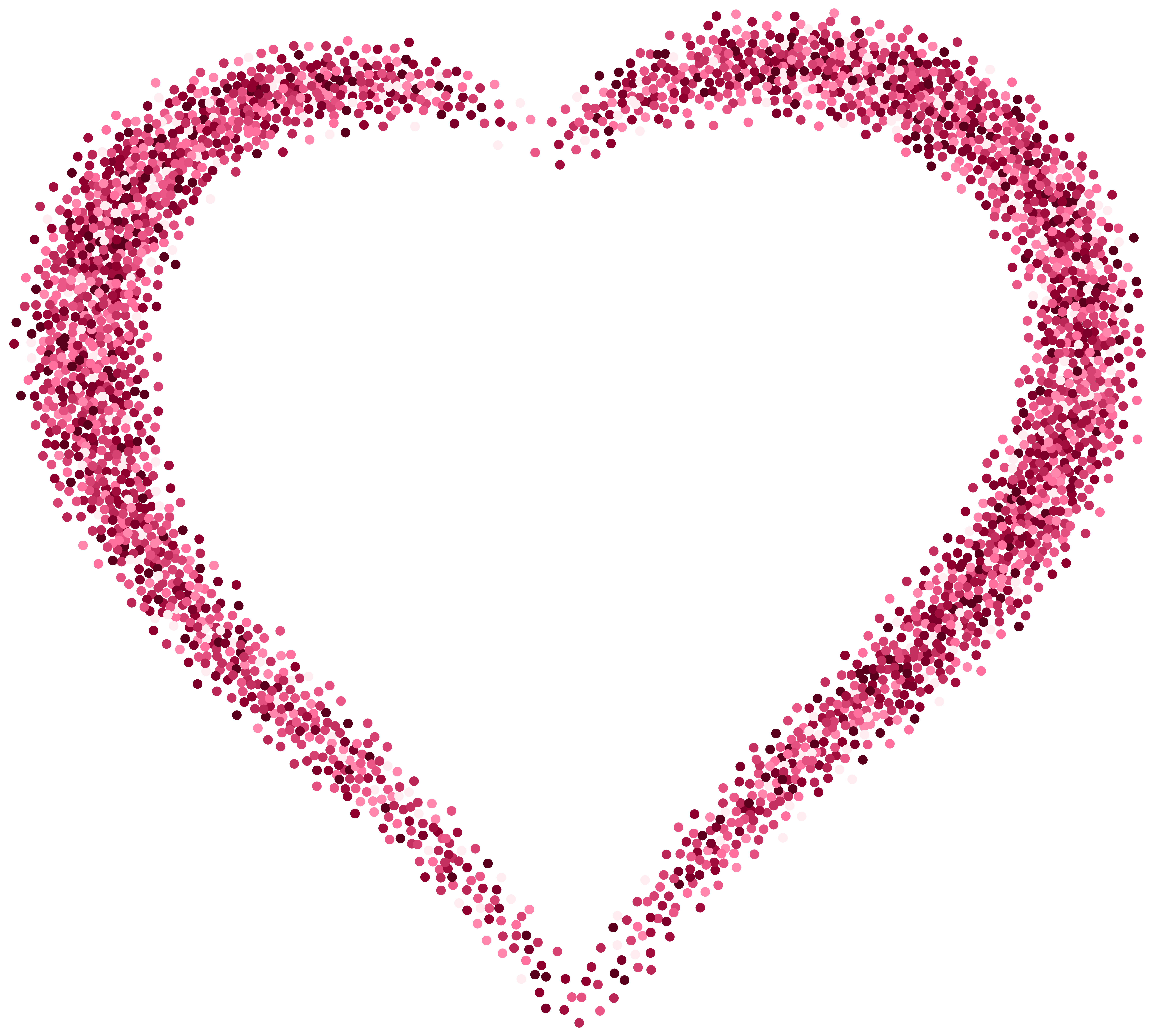 Decorative Pink Heart PNG Image.