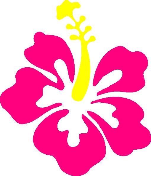 Happy pink hibiscus clip art at vector clip art.