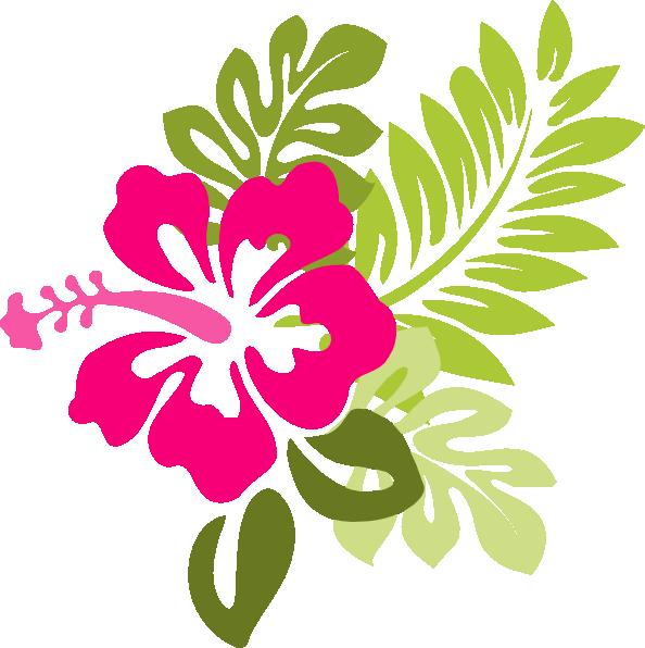 Pink Hibiscus Clip Art at Clker.com.