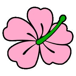 Pink Hibiscus Flower Clip Art.