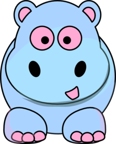 Pink And Blue Hippo Clip Art at Clker.com.
