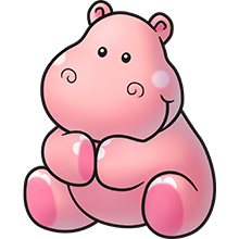 Pink hippo.