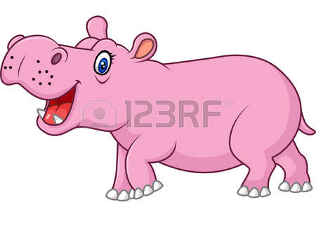 565 Pink Hippo Stock Vector Illustration And Royalty Free Pink.