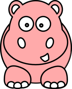 Pink Hippo Clipart.