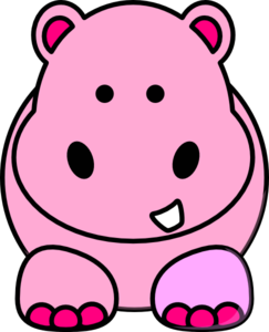 Pink Hippo Clip Art at Clker.com.