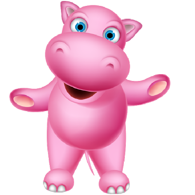 Cute Pink Hippo Images.