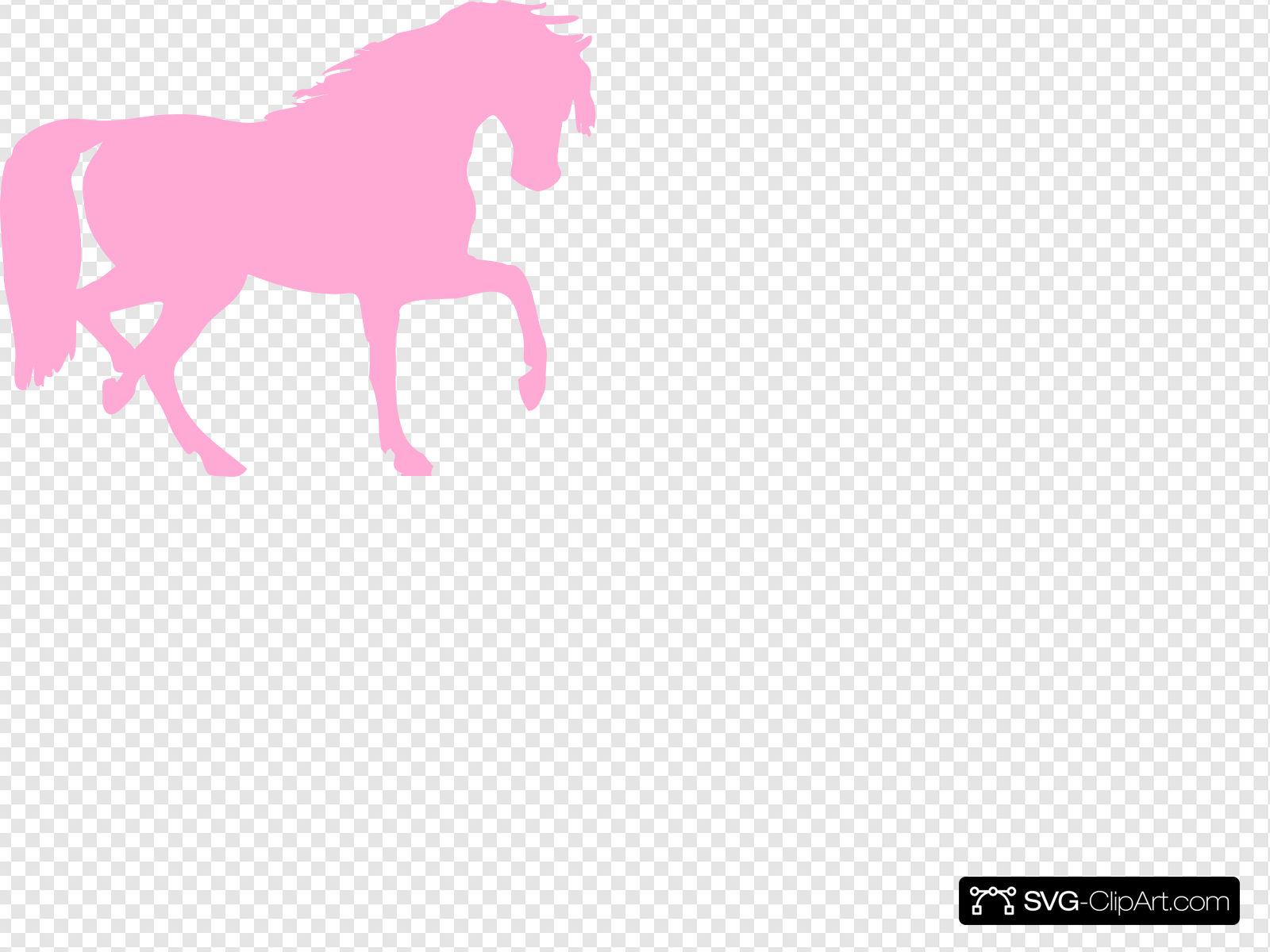 Pink Horse Clip art, Icon and SVG.