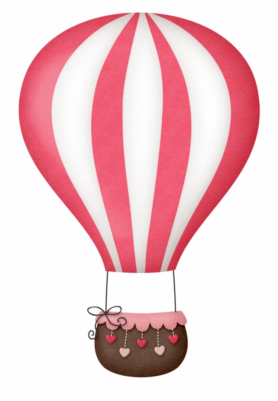 Hot Air Balloon Clipart Colour.