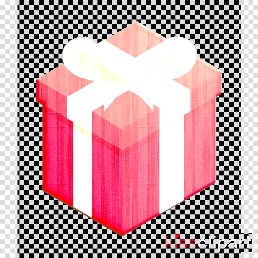 box icon gift icon pink icon clipart.