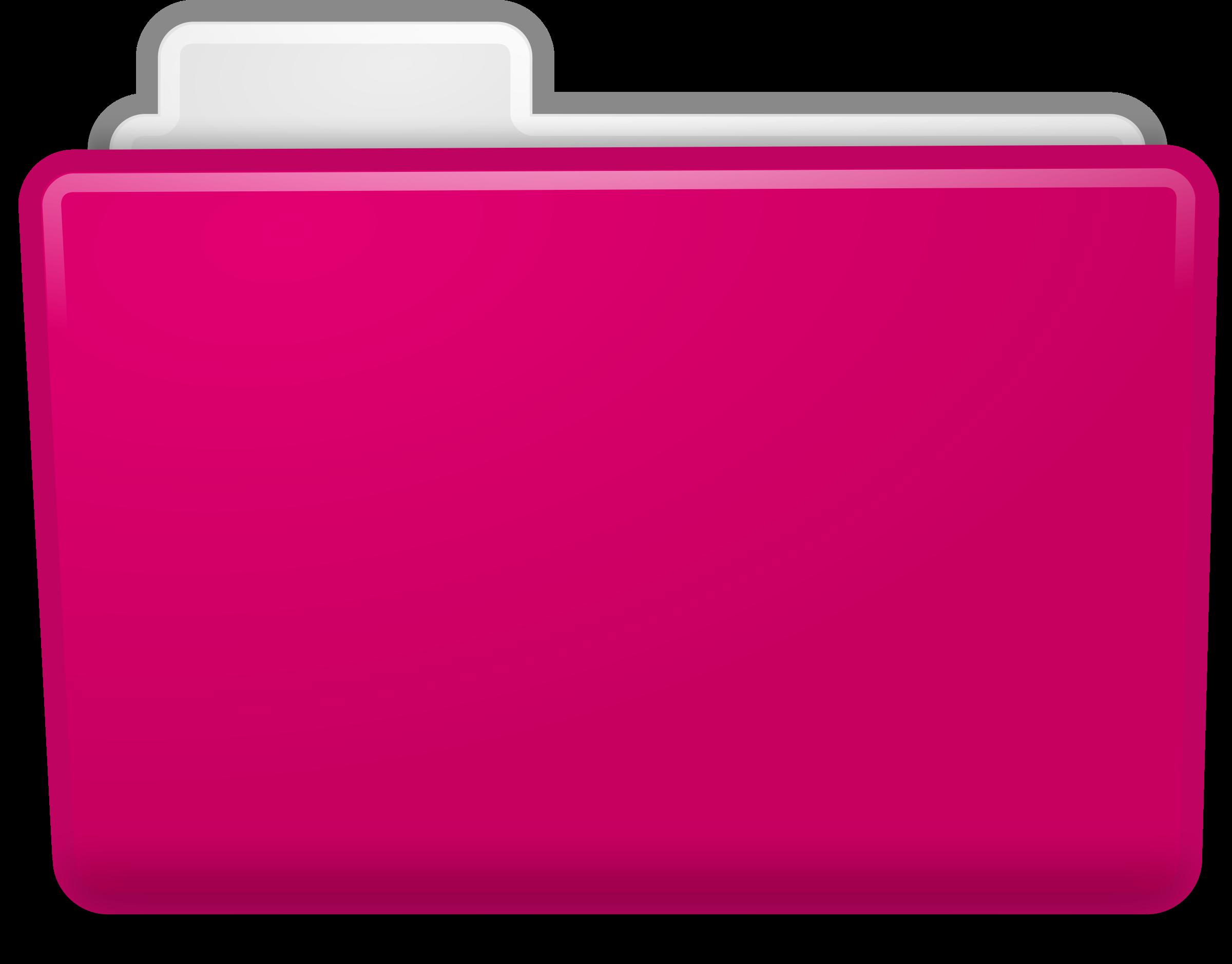 Pink Folder Clipart.