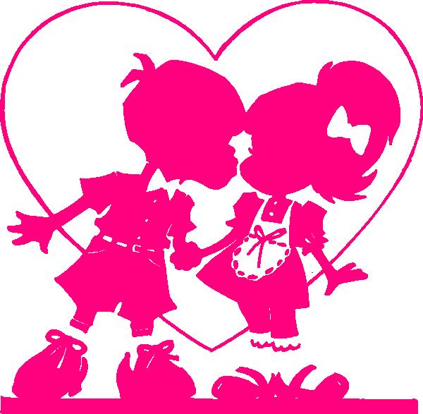 Pink Valentine Kiss Clip Art at Clker.com.