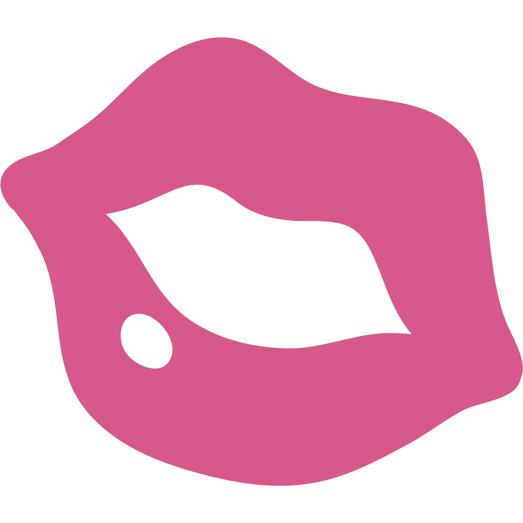 Emoticon Pink Kiss transparent PNG.