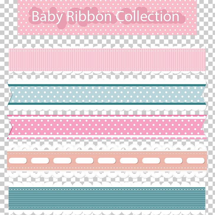 Paper Ribbon Pink Lace PNG, Clipart, Cute Ribbon Border.