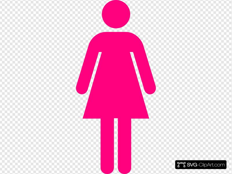 Pink Lady Clip art, Icon and SVG.