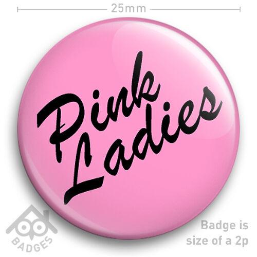 PINK LADIES Logo Grease Women\'s FANCY DRESS 25mm 1\