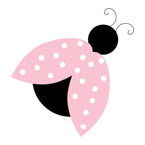 Ladybug Pink Clipart Free Stock Photo.