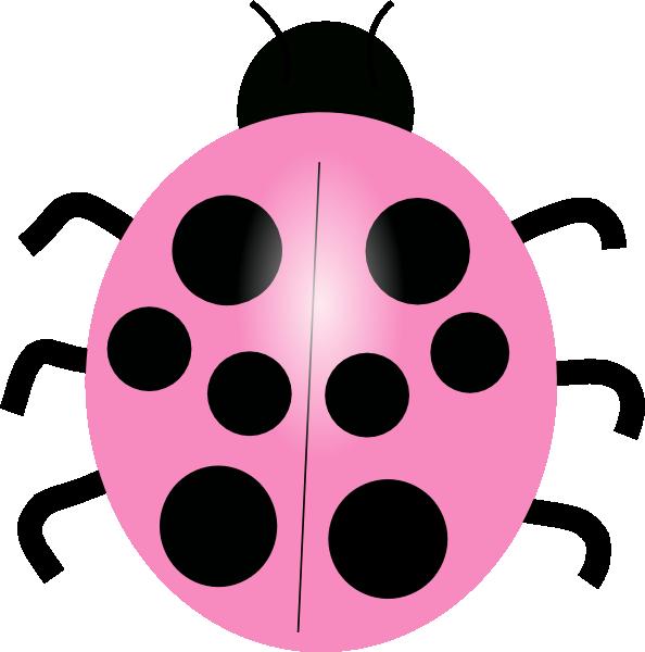 Pink Ladybug Clip Art.