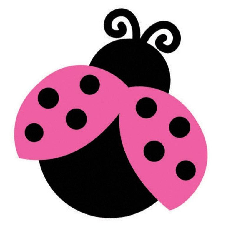 Pink And Green Ladybug Clipart.