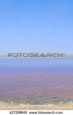 Stock Image of Retba Lake (or Pink lake) k27299645.