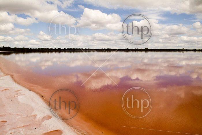 The remarkable salt lake, Pink Lake, outside Dimboola, Australia.