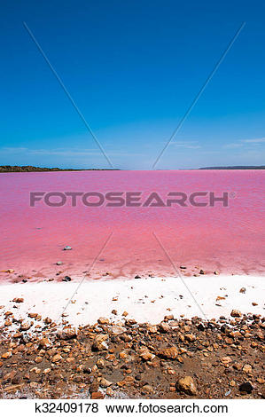 Pictures of Pink Lake Outback Australia k32409178.