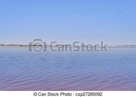 Stock Photographs of Retba Lake (or Pink lake).