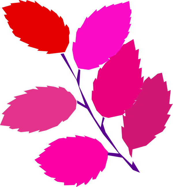 Pink Leaves Clipart