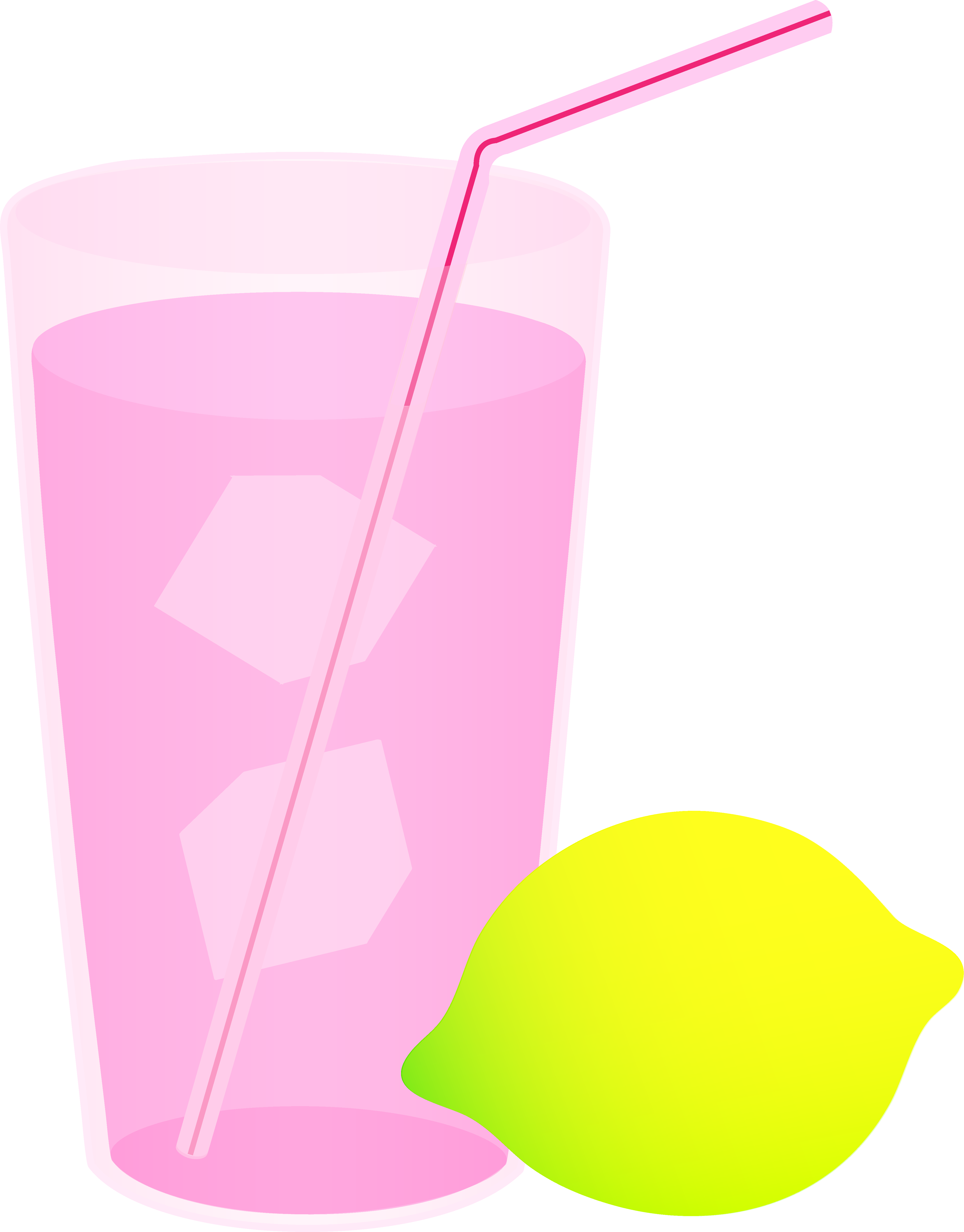 Glass of Pink Lemonade.