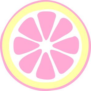 Pink Lemon Slice clip art.