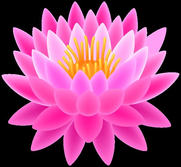 Pink Lotus Transparent PNG Clip Art Image.