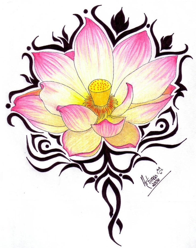 Pink lotus flower faded clipart clipground lotus flower shoulder tattoo for women izmirmasajfo