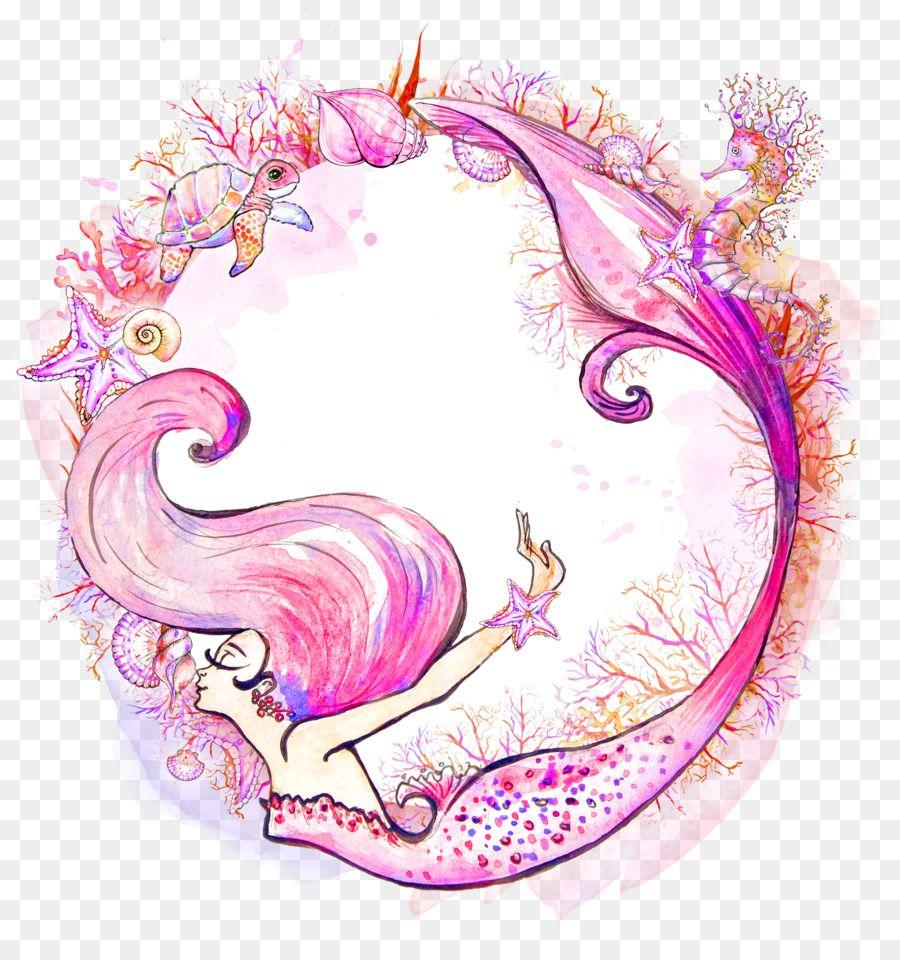 Mermaid Watercolor painting Siren Clip art.