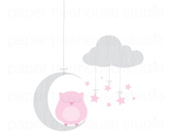 Pink moon clipart.