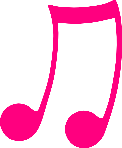 Pink Musical Note Clip Art at Clker.com.