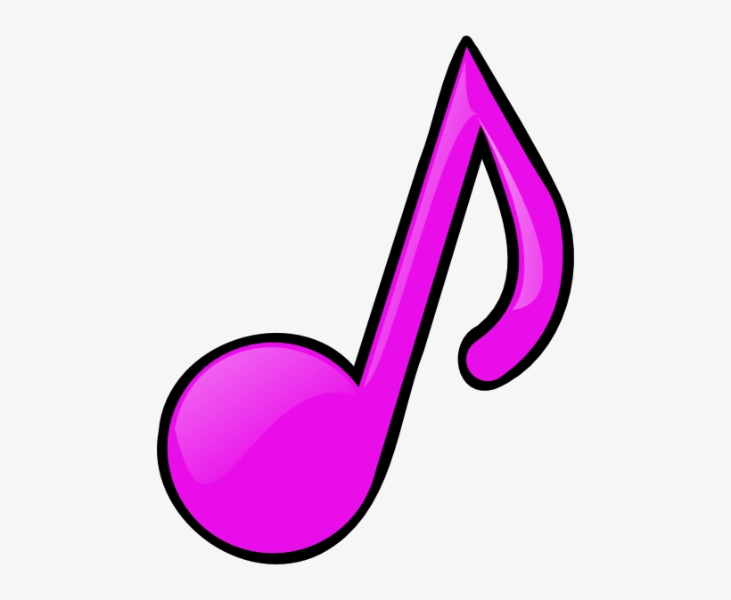Music Notes Clipart Pink.