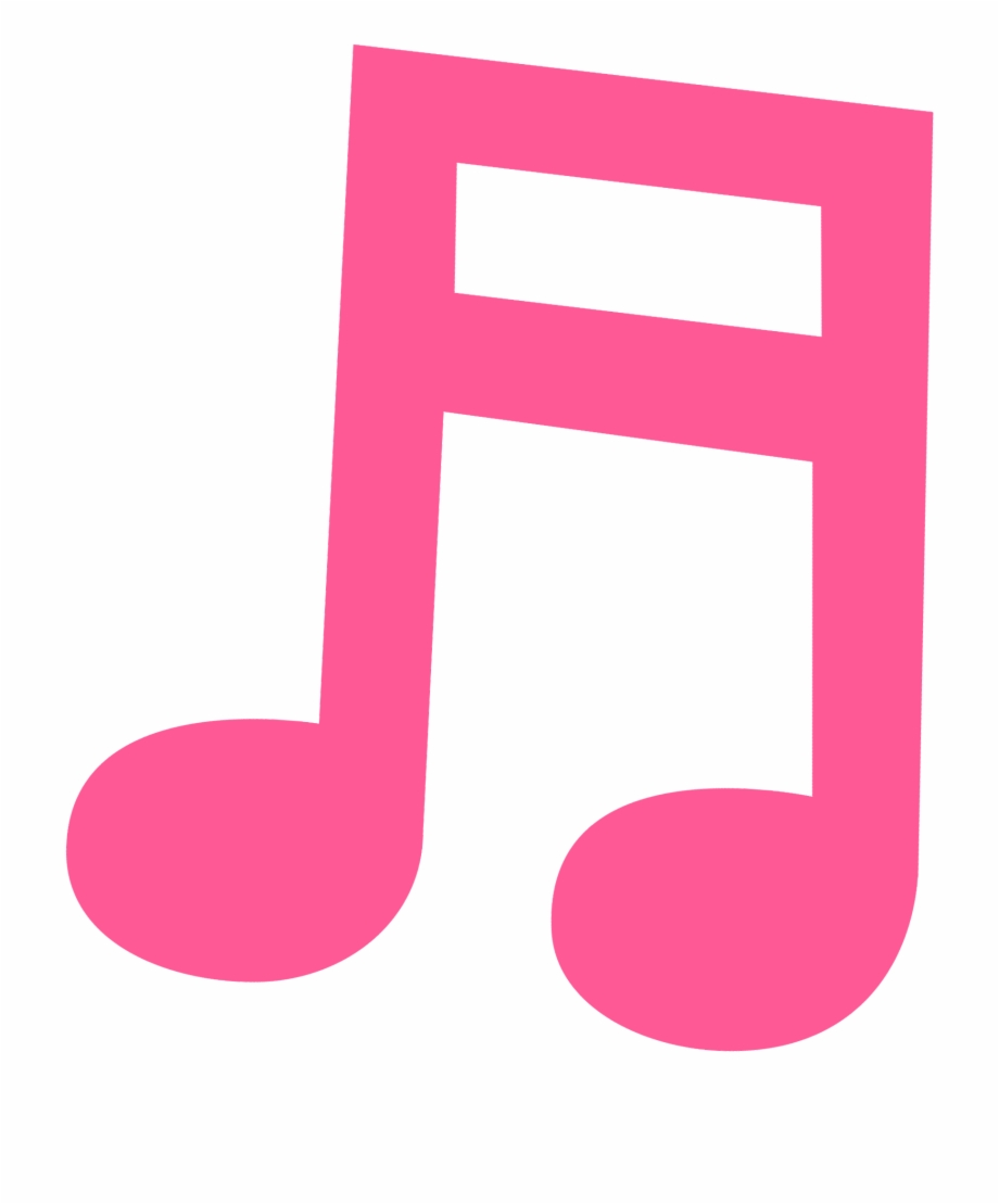 Pink Clipart Music Note.