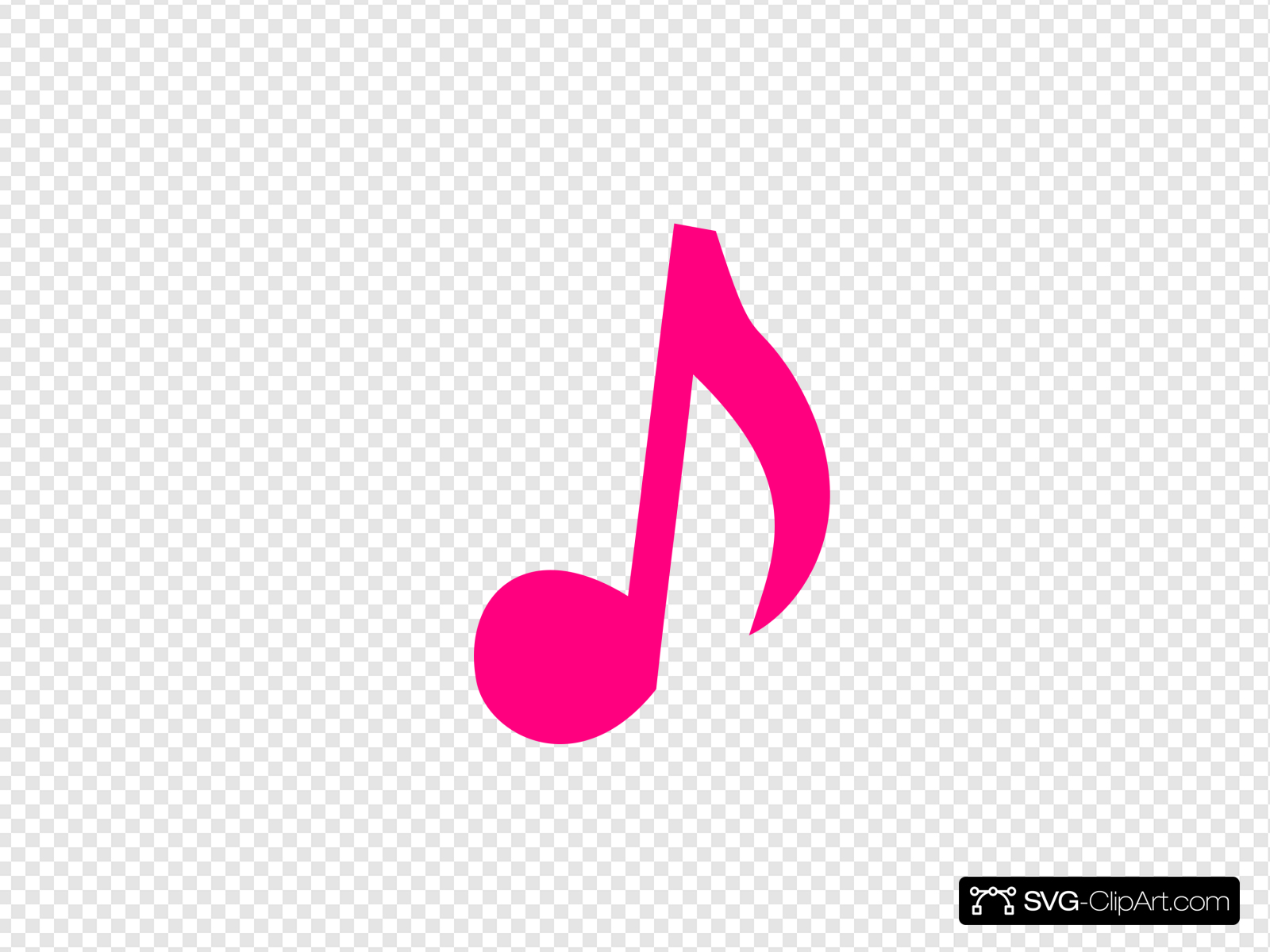 Pink Music Note Clip art, Icon and SVG.