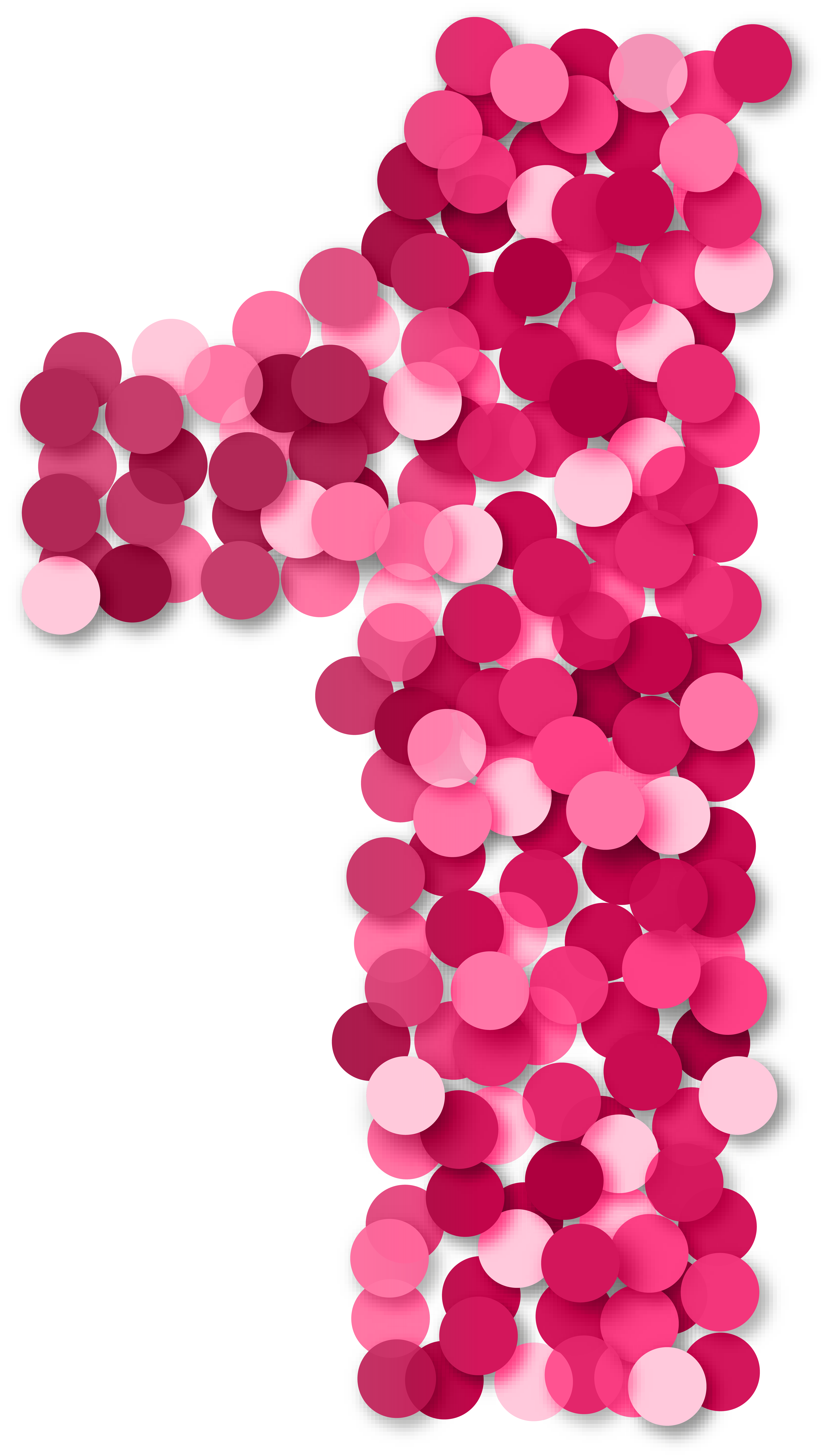 One 1 Number Pink PNG Clip Art.