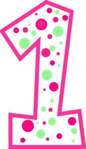 Polka Dot Number 2 Birthday Clipart.