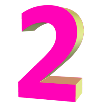 Number 2 PNG.