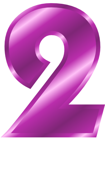 Pink Number 2 Clipart Png.