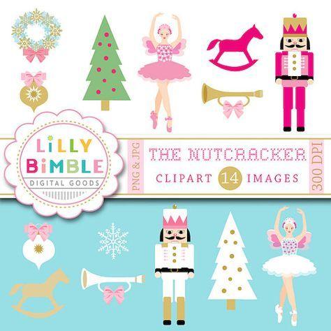 50% off sale Nutcracker clipart Christmas sugar plum fairy.