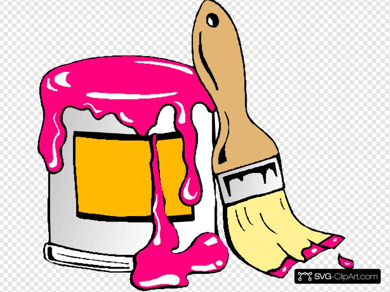 Pink Paint Clip art, Icon and SVG.