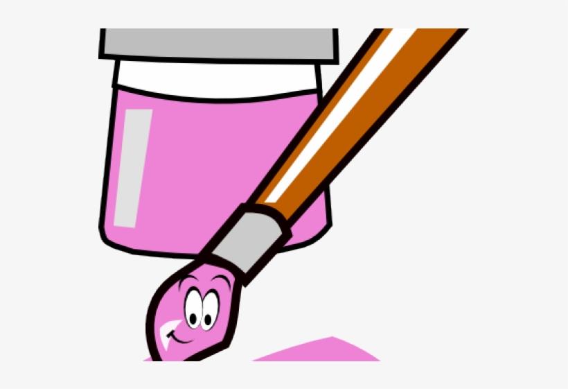 Cliparts Pink Paint.